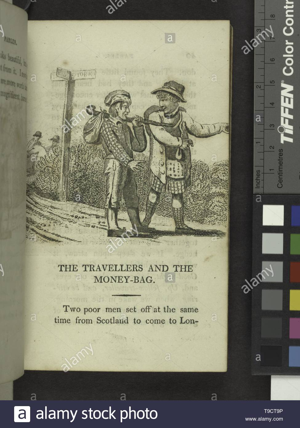 Godwin,William,1756-1836-The travellers and the money-bag - Stock Image