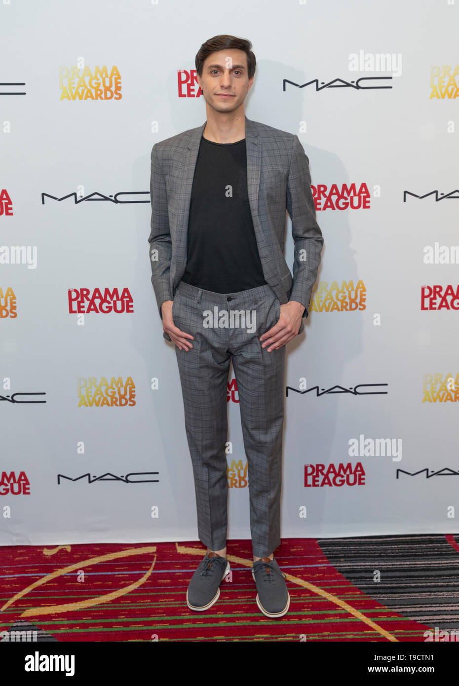 New York, NY - May 17, 2019: Gideon Glick attends 85th Annual Drama League Awards at Marriot Marquis Times Square - Stock Image