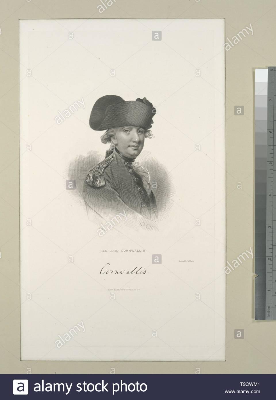 Hollyer,Samuel(1826-1919)-Gen  Lord Cornwallis - Stock Image