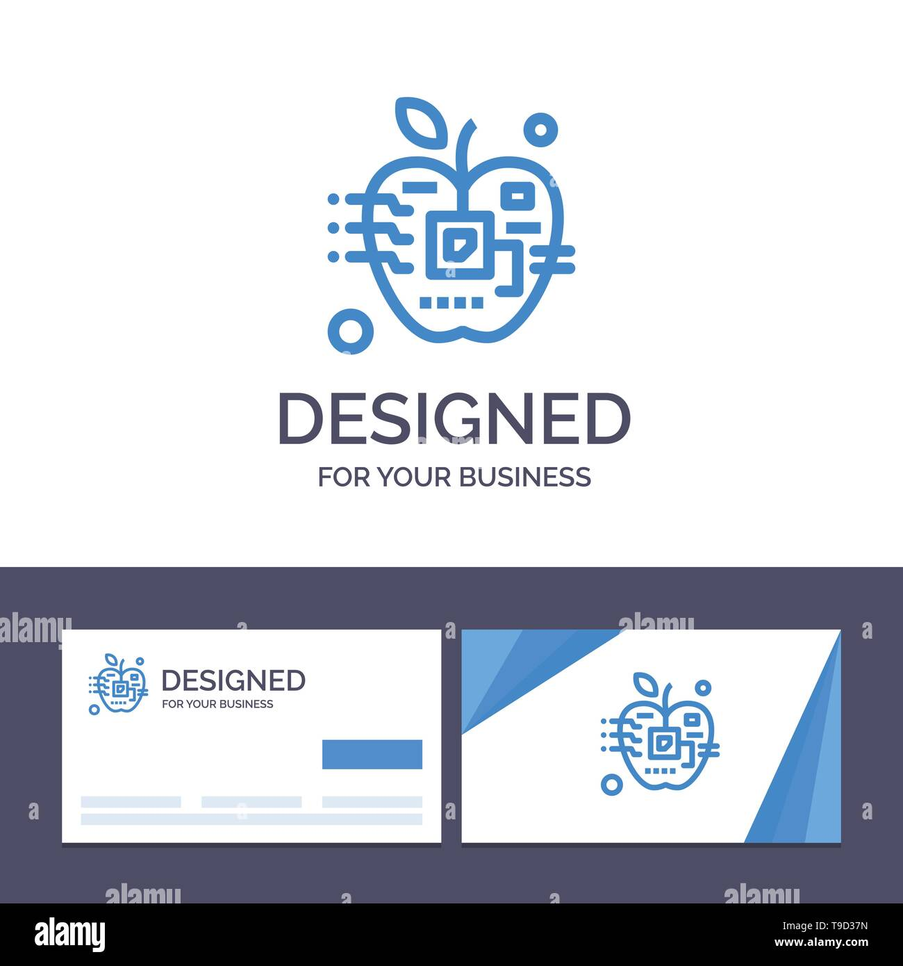 Creative Business Card and Logo template Apple, Artificial, Biology, Digital, Electronic Vector Illustration - Stock Image