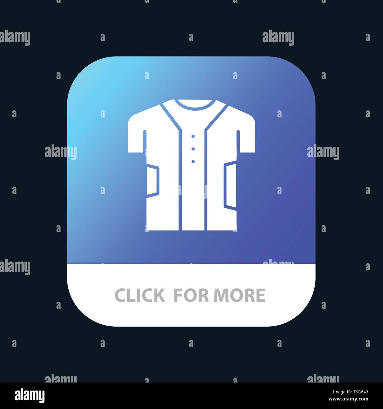 Cloth, Clothing, Digital, Electronic, Fabric Mobile App Button. Android and IOS Glyph Version - Stock Image