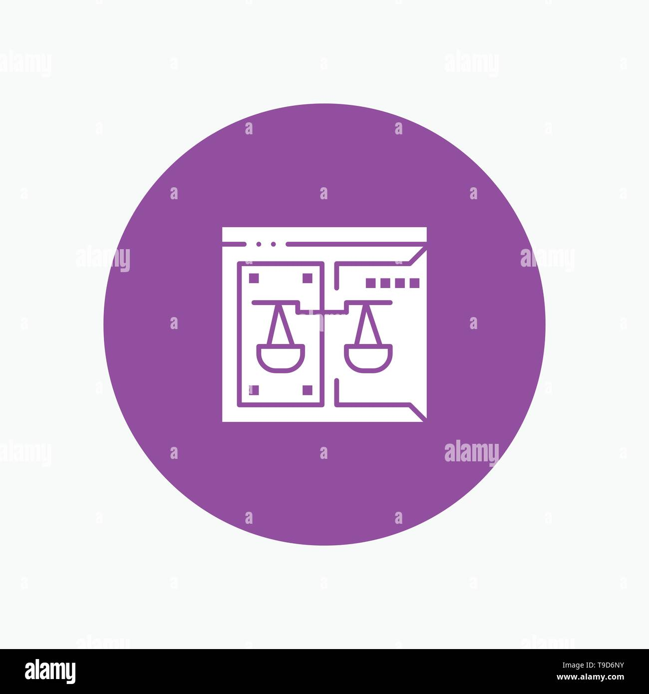 Business, Copyright, Court, Digital, Law Stock Vector