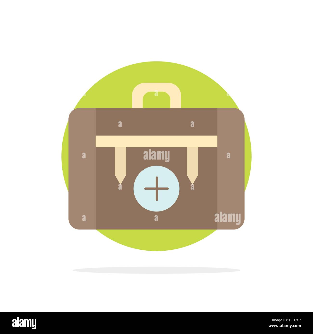 bag, camping, health, hiking, luggage Flat Color Icon Vector - Stock Image