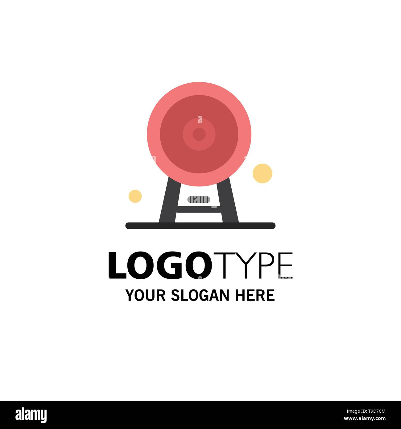 Architecture, England, Ferris Wheel, Landmark, London Eye, Business Logo Template. Flat Color - Stock Image