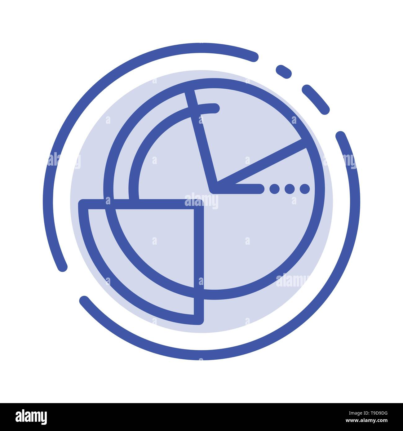 analysis, chart, data, diagram, monitoring blue dotted line line icon