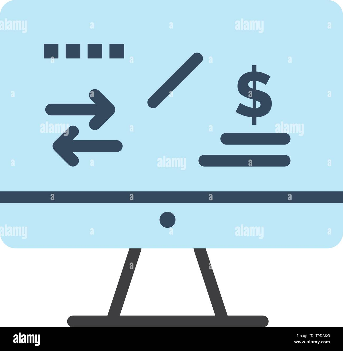 Tax Regulation, Finance, Income, Computer  Flat Color Icon. Vector icon banner Template - Stock Vector