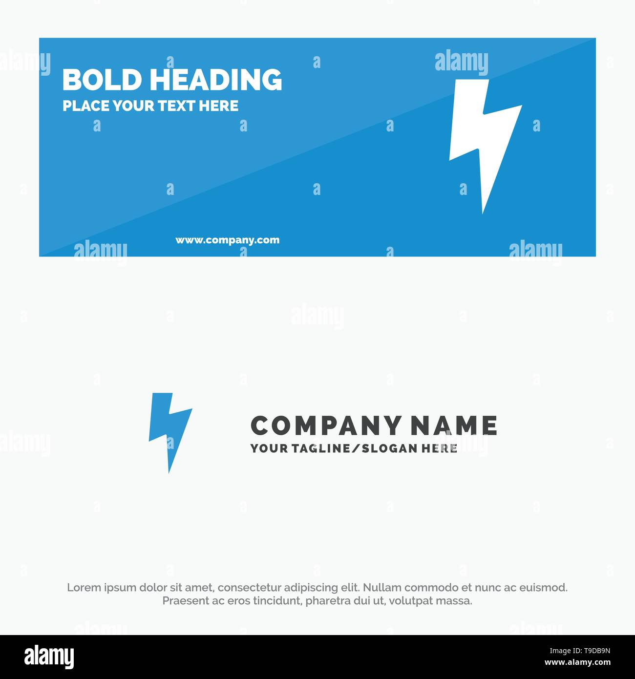 Power, Basic, Ui SOlid Icon Website Banner and Business Logo