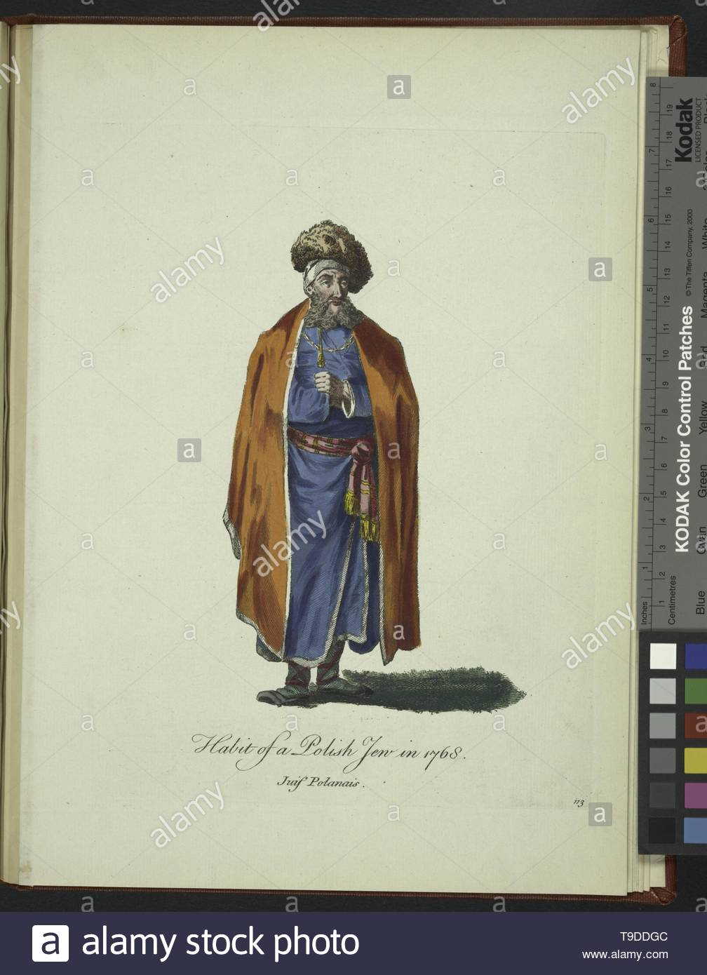 LePrince,Jean-Baptiste(1734-1781)-Habit of a Polish Jew in 1768  Juif Polanais - Stock Image