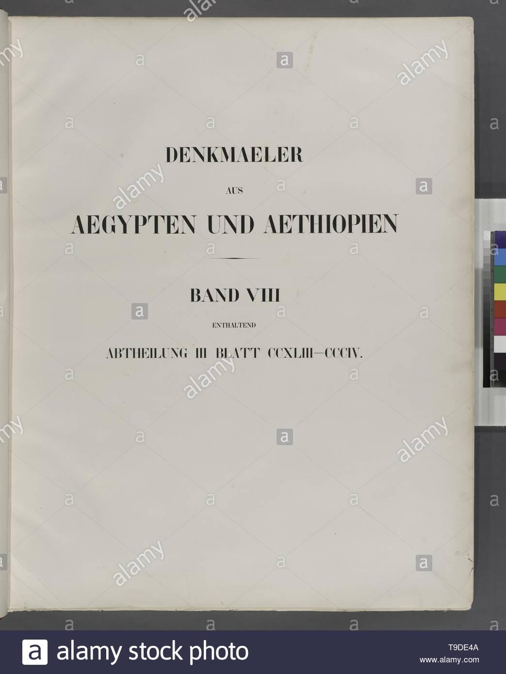 Lepsius,Richard,1810-1884-Title page] Denkmaeler aus Aegypten und Aethiopien  Band VIII enthaltend Abtheilung III, Blatt CCXLIII-CCCIV [243-304] - Stock Image