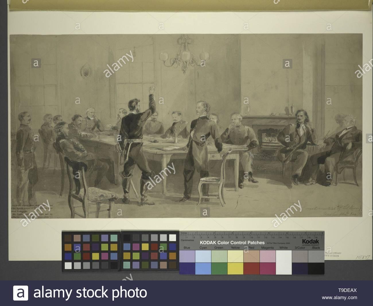 Lumley,Arthur(ca 1837-1912)-Court-martial of Col  Kerrigan, Washington, Dec  1861 - Stock Image