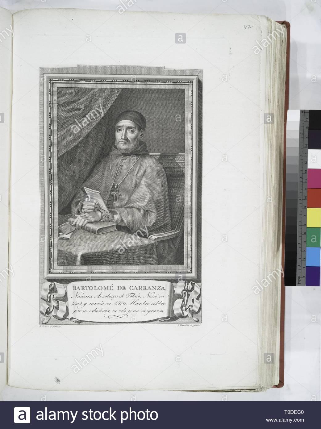 Maea,José(1759-1826)-Bartolomé de Carranza - Stock Image