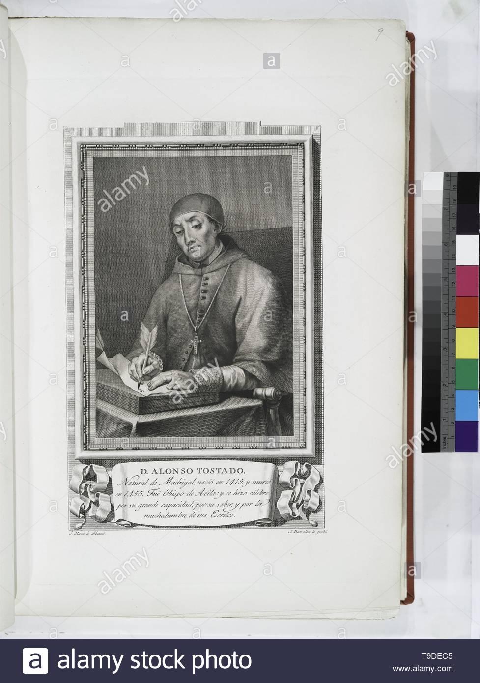 Maea,José(1759-1826)-D  Alonso Tostado - Stock Image