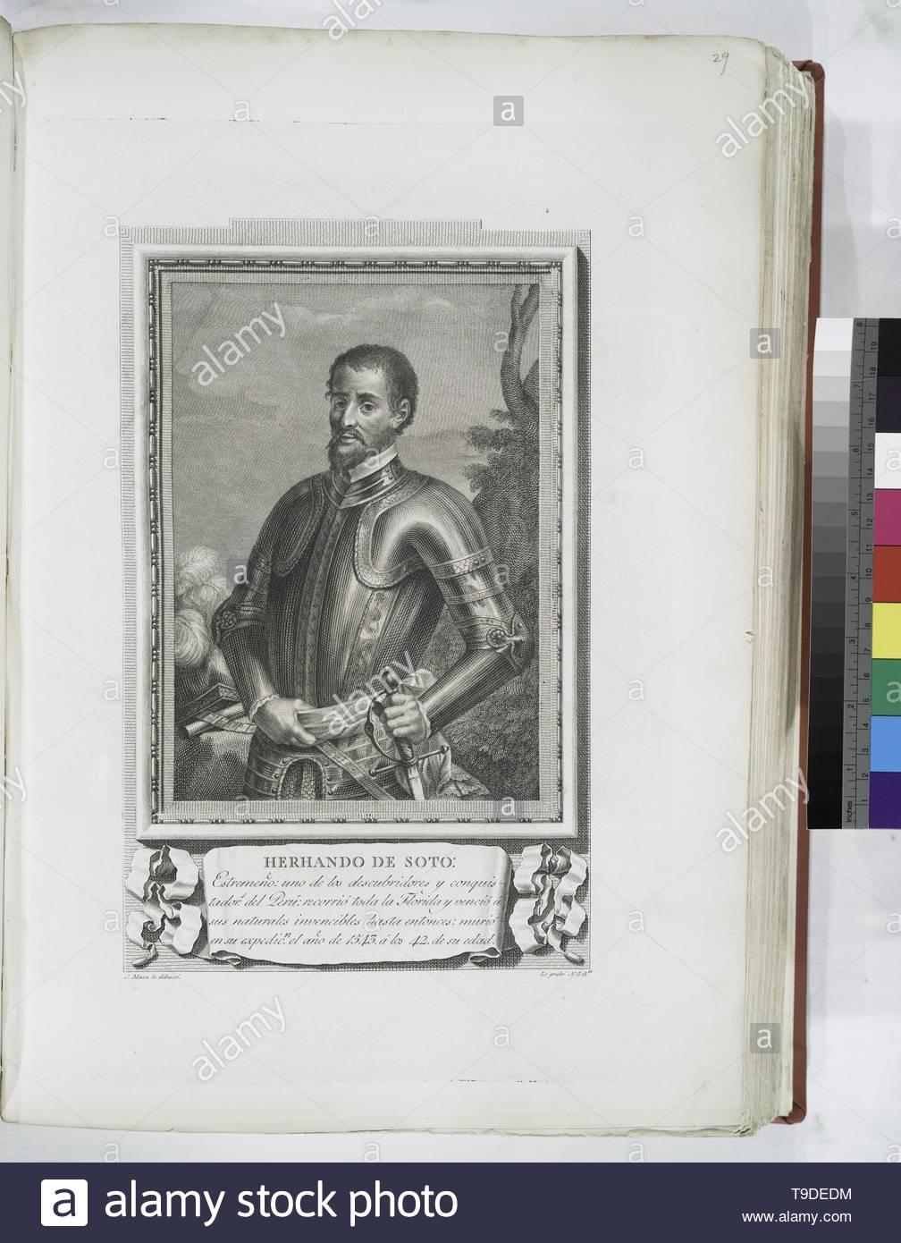 Maea,José(1759-1826)-Herhando [sic] de Soto - Stock Image