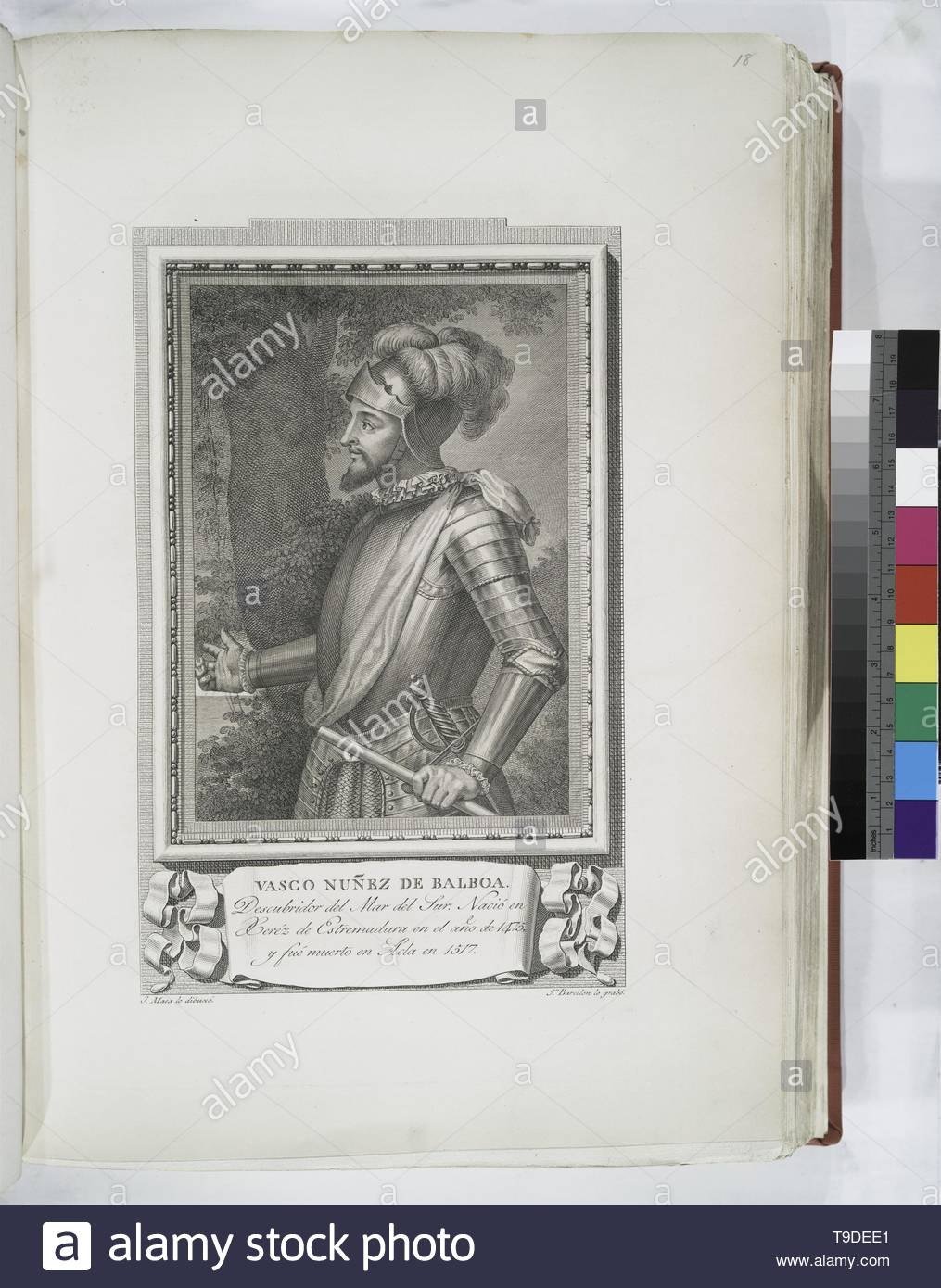 Maea,José(1759-1826)-Vasco Nuñez de Balboa - Stock Image