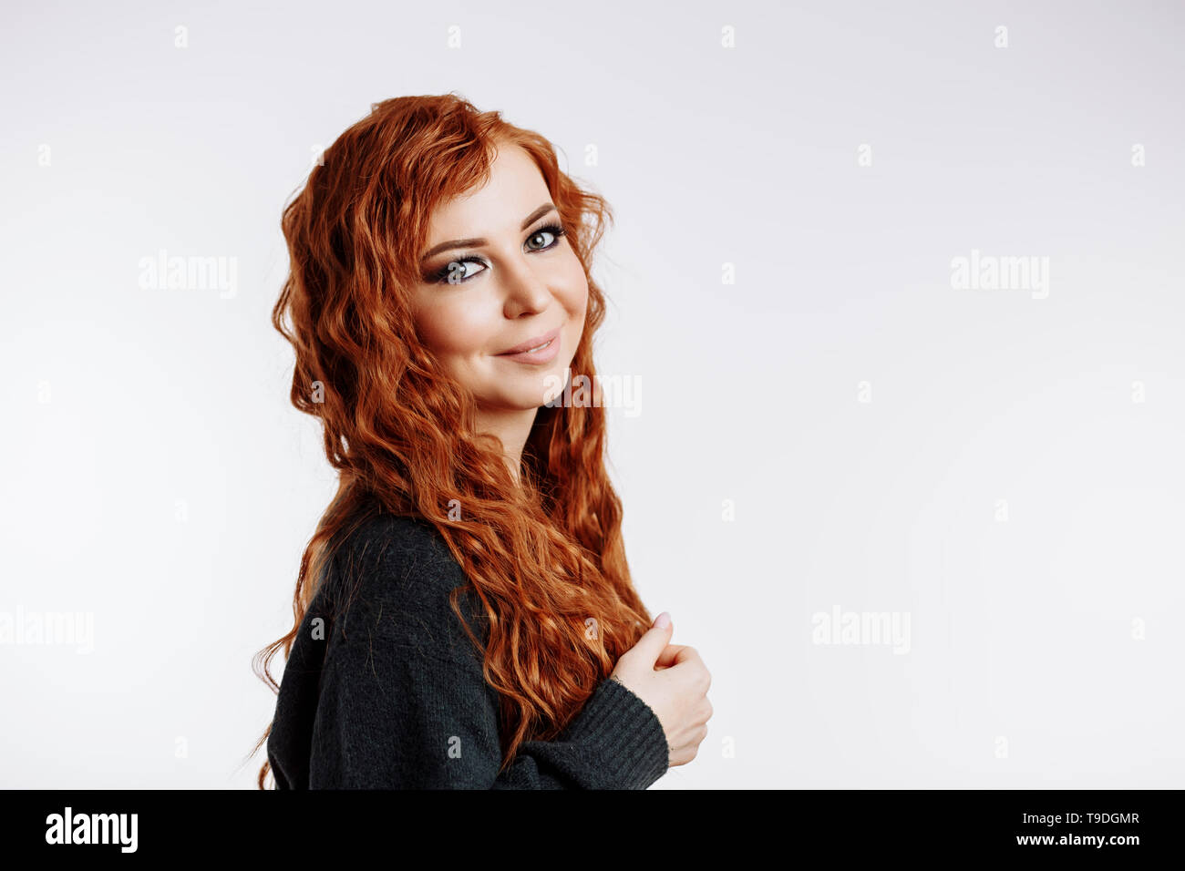 Redhead Girl Green Eyes High Resolution Stock Photography And Images Alamy