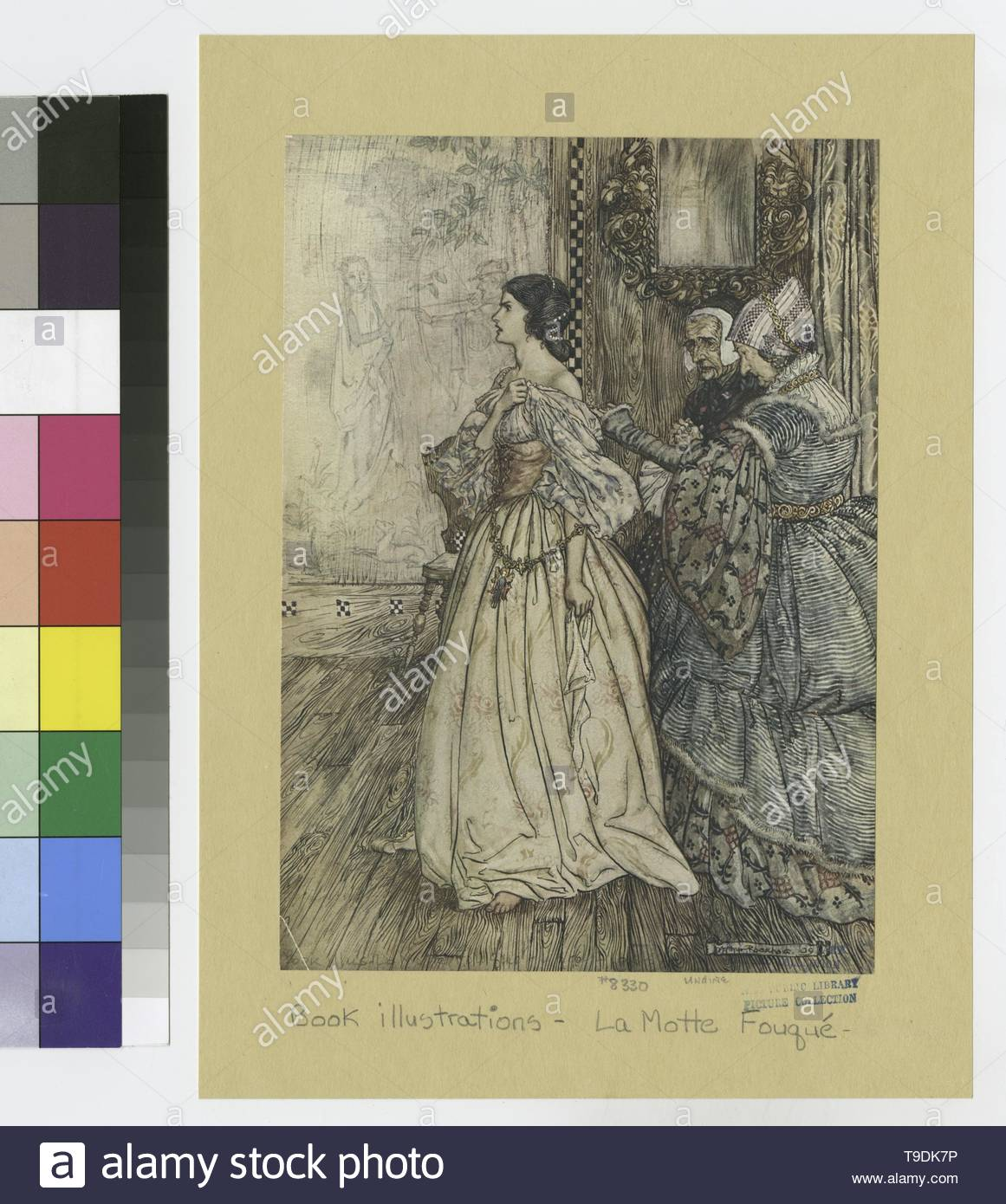 Rackham,Arthur(1867-1939)-&quot,& x27,She hath a mark, like a violet, between her shoulders, and another like it on the instep of her left foot & x27,&quot, - Stock Image