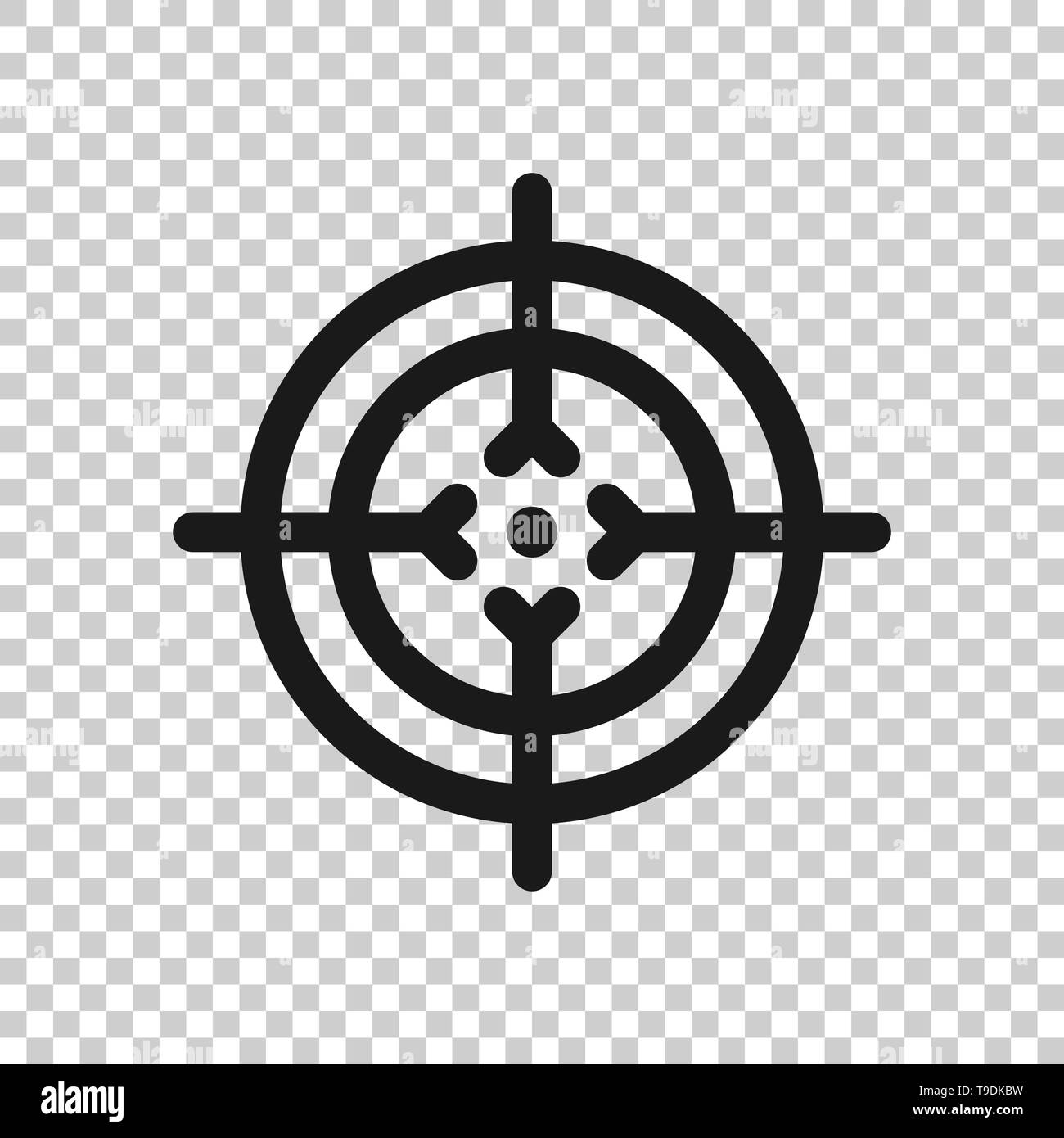 Shooting target vector icon in...
