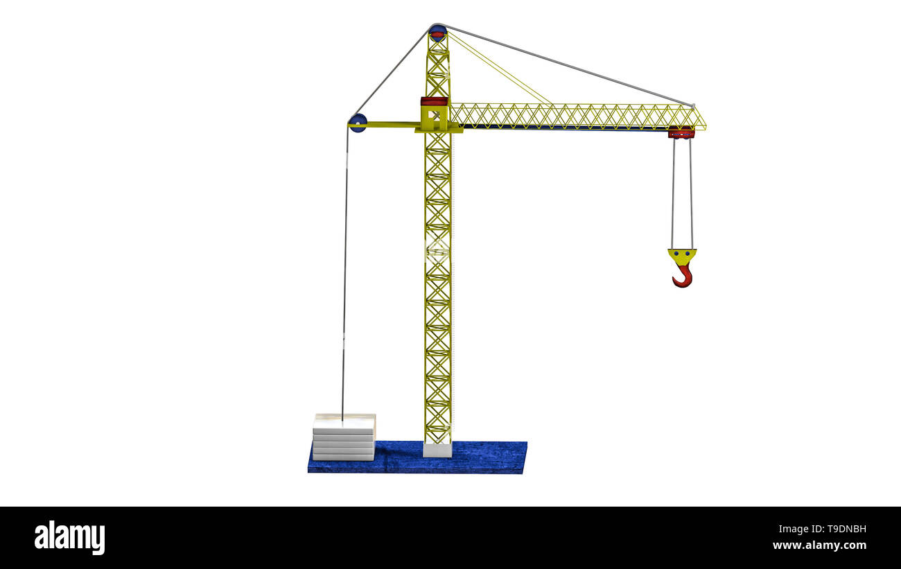 model of a toy crane  3D rendering Stock Photo: 246779221 - Alamy