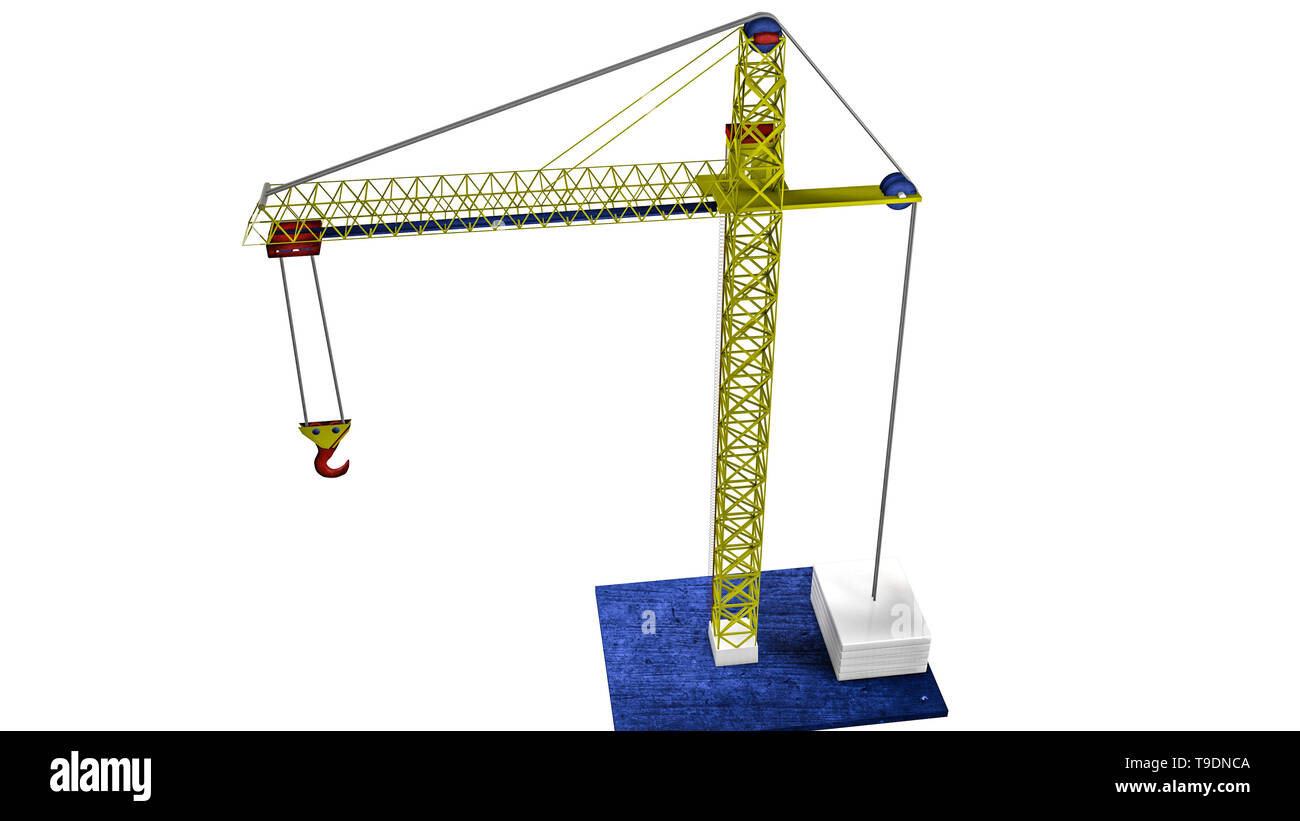 model of a toy crane  3D rendering Stock Photo: 246779242 - Alamy