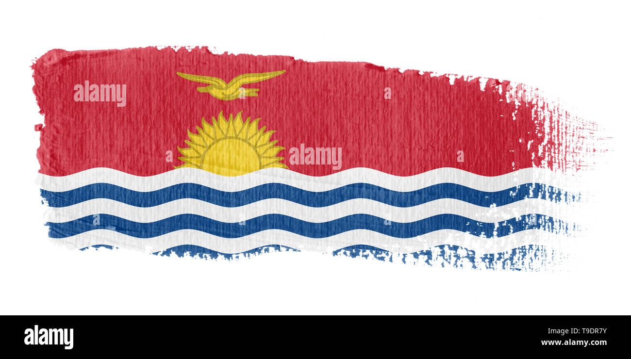Brushstroke Flag Kiribati - Stock Image