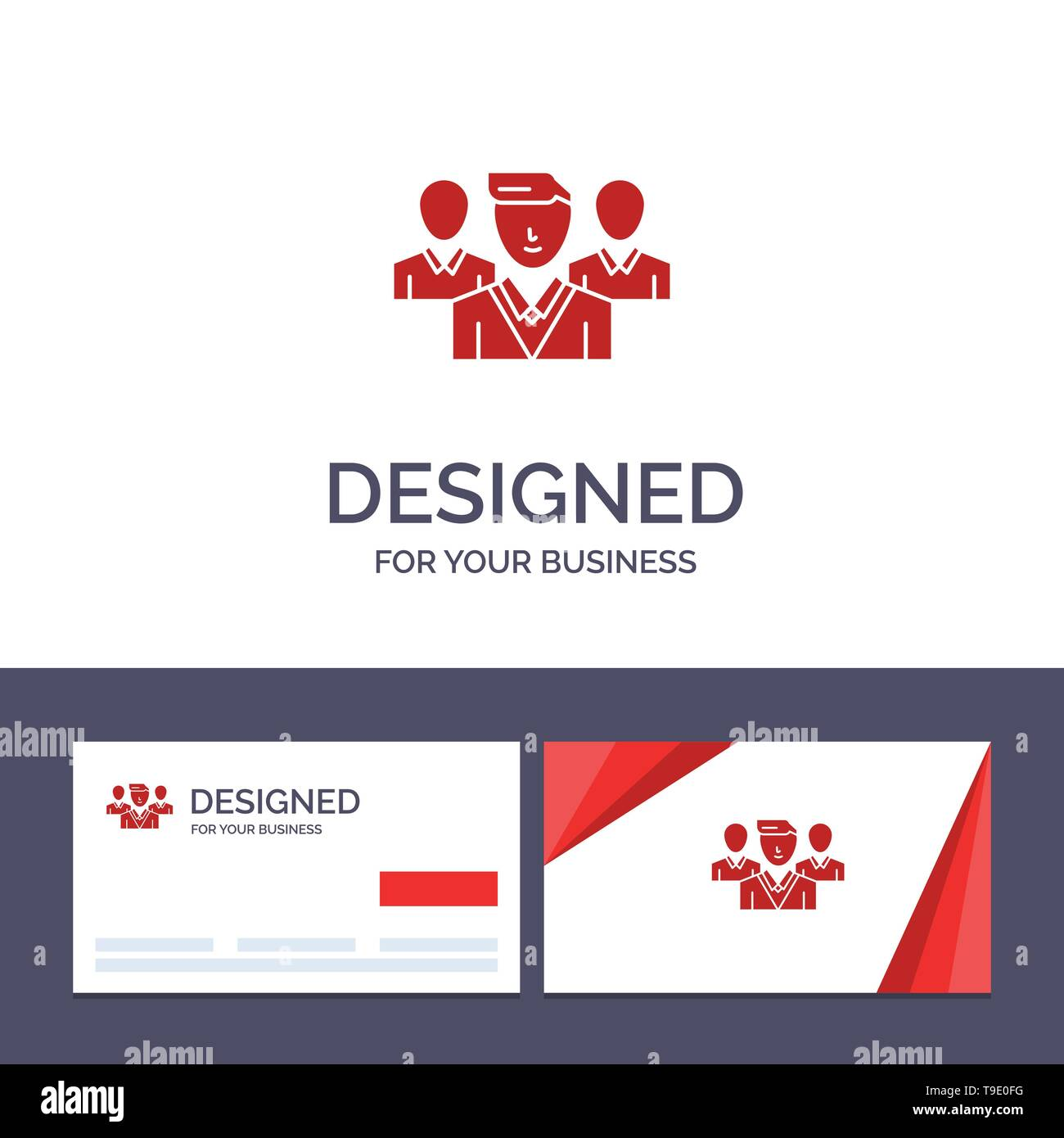 Creative Business Card and Logo template Staff, Security, Friend zone, Gang Vector Illustration - Stock Image