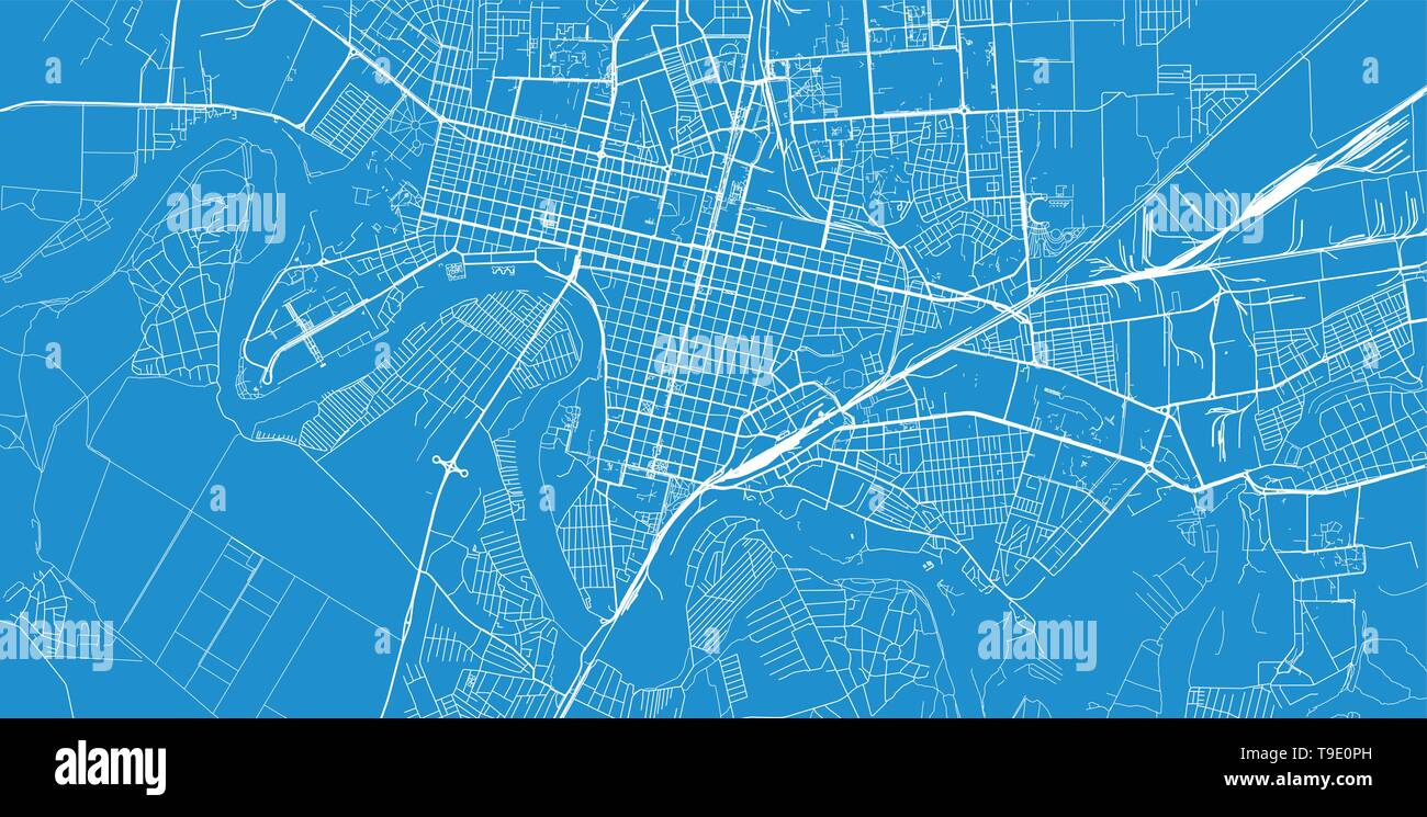 Urban Vector City Map Of Krasnodar Russia Stock Vector Image Art Alamy
