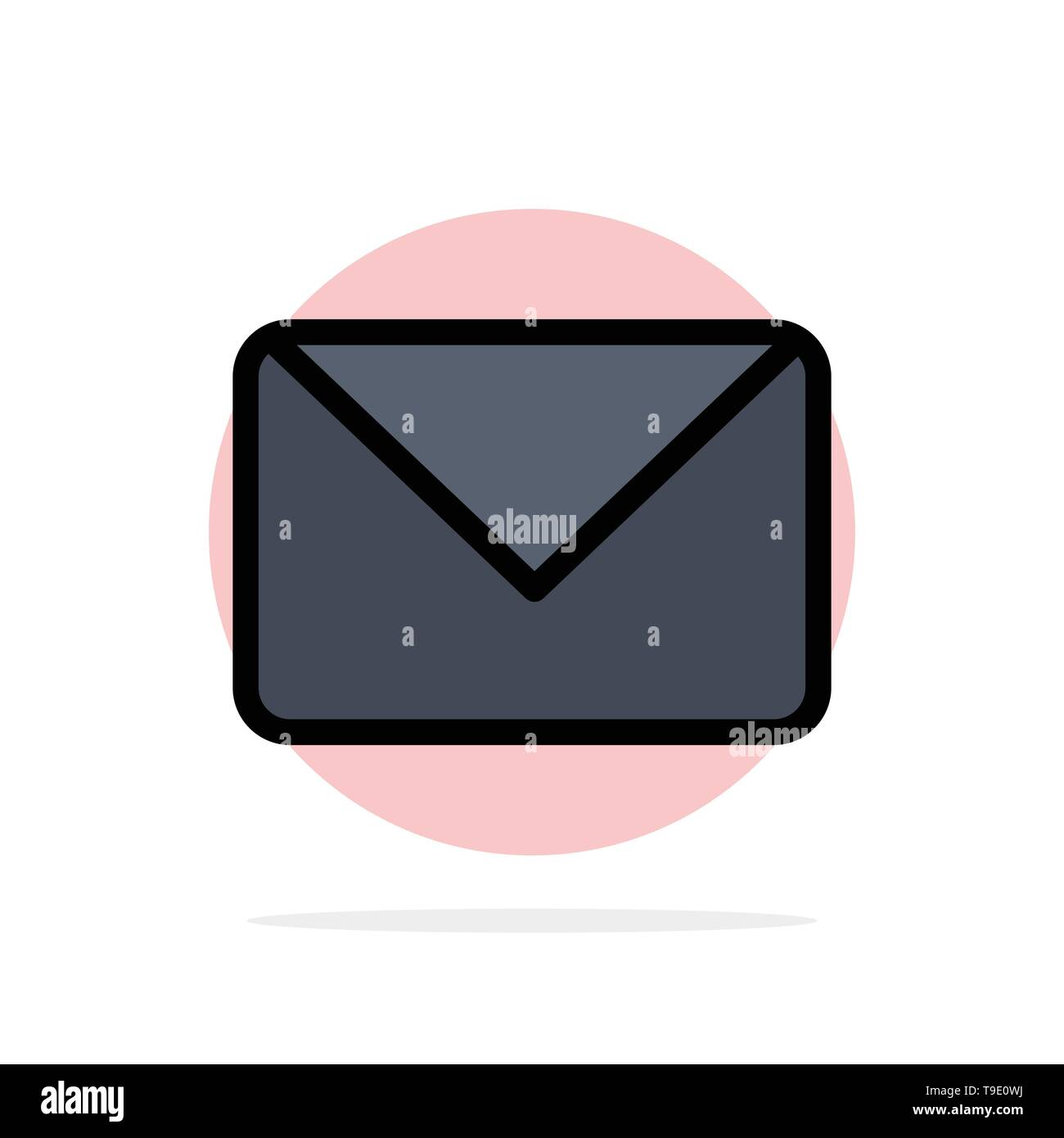 Twitter, Mail, Sms, Chat Abstract Circle Background Flat color Icon