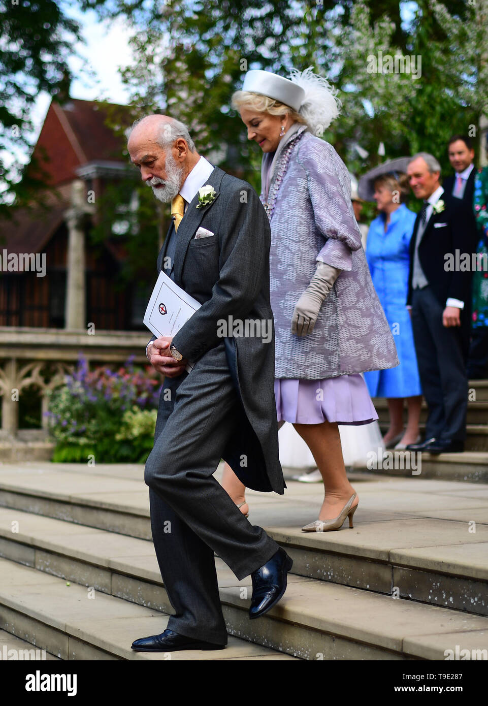 8693f45c9 Prince Michael of Kent and Princess Michael of Kent leave after the wedding  of Lady Gabriella