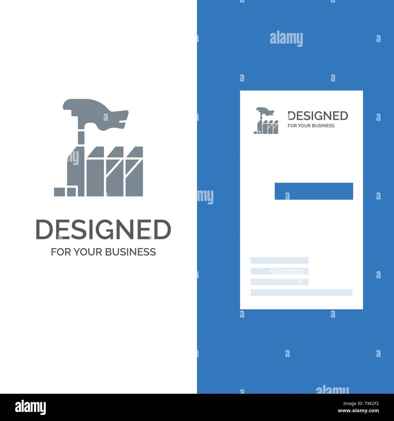 Autocracy, Despotism, Domination, Interest, Lobbying Grey Logo Design and Business Card Template - Stock Image