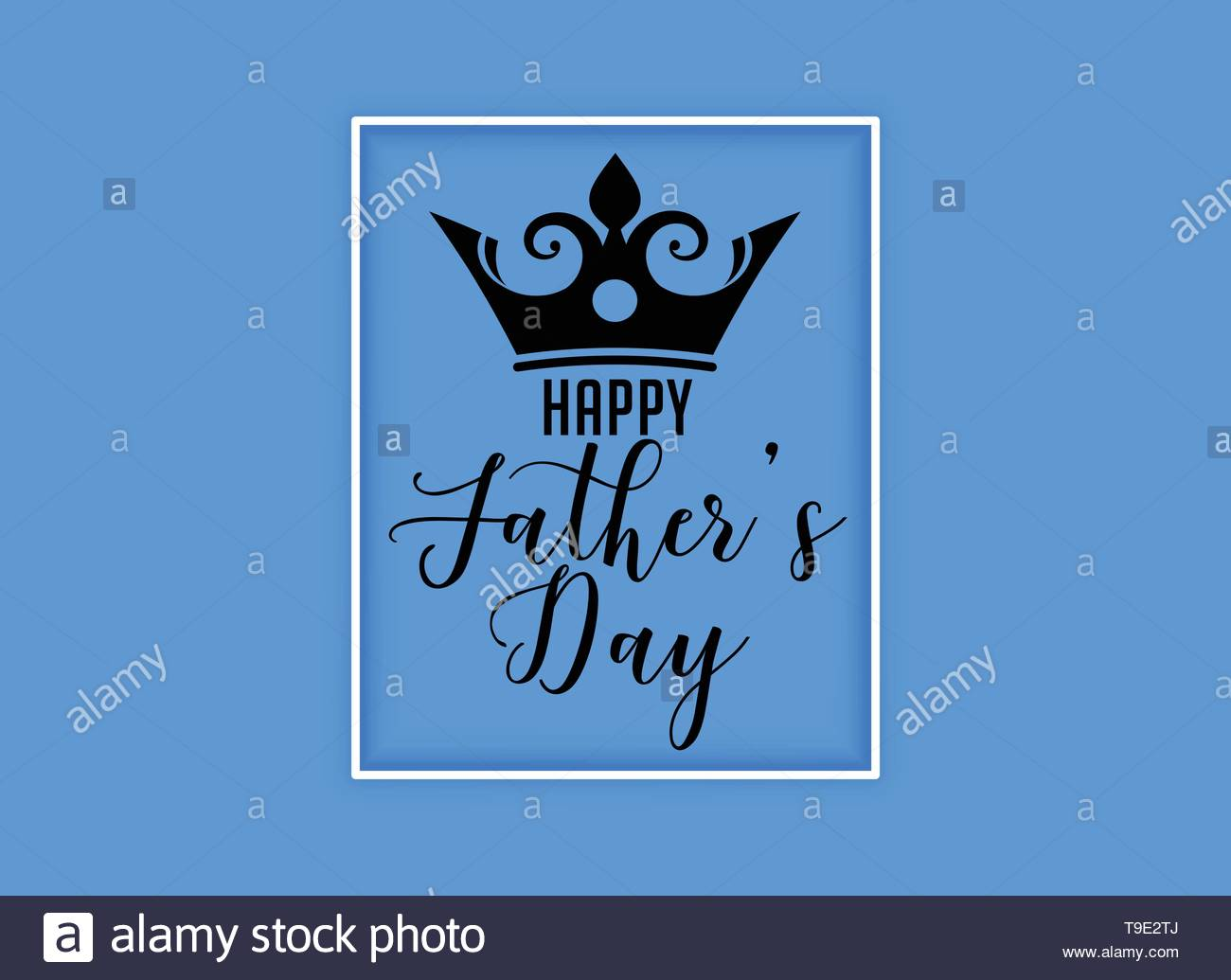 happy fathers day kings crown background - Stock Image