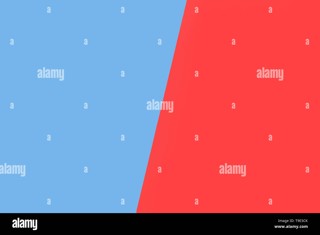 colorful paper background of two colors - blue and red - Stock Image