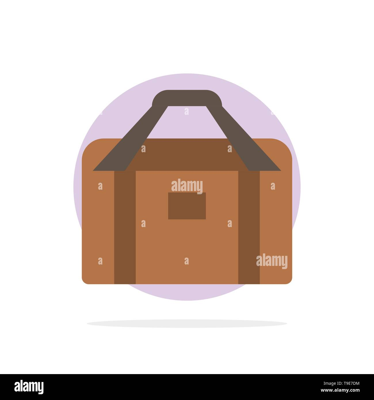 Bag, Equipment, Gym, Sports Abstract Circle Background Flat color Icon - Stock Image