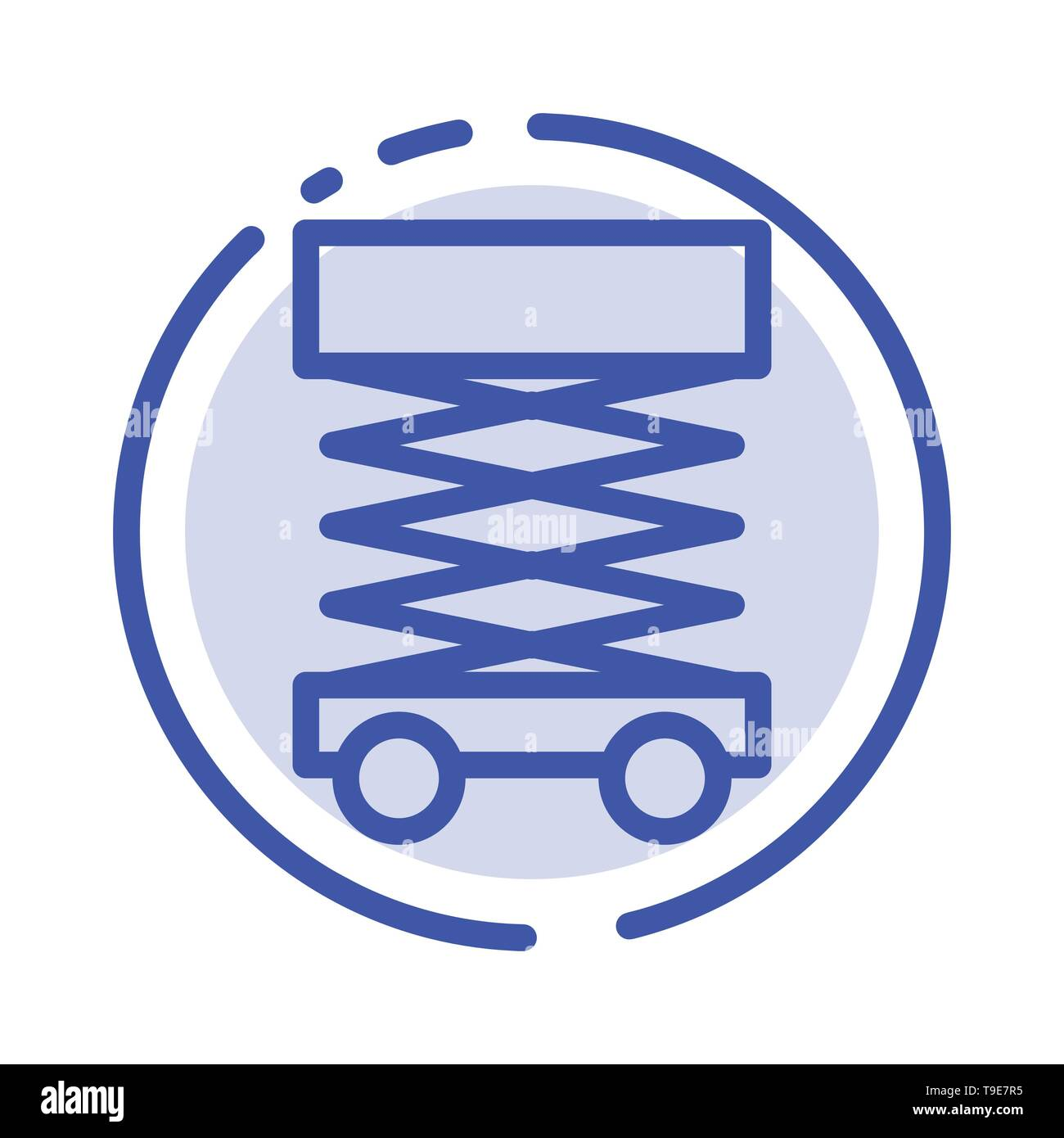 Construction, Develop, Scaffolding, Structure Blue Dotted Line Line Icon - Stock Vector