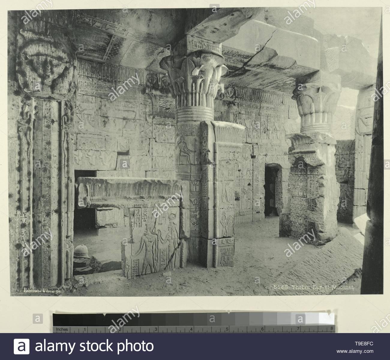 Schroeder&amp,Cie-Thèbes Der el Medinet [Dayr al-Madinah Site] - Stock Image