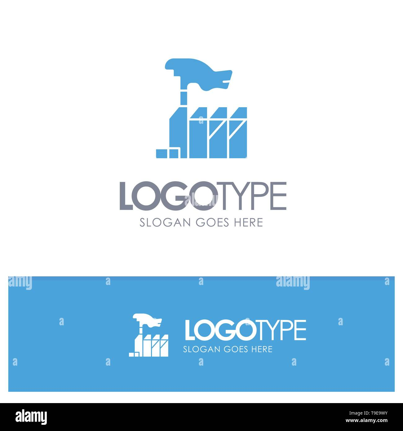 Autocracy, Despotism, Domination, Interest, Lobbying Blue Solid Logo with place for tagline - Stock Image