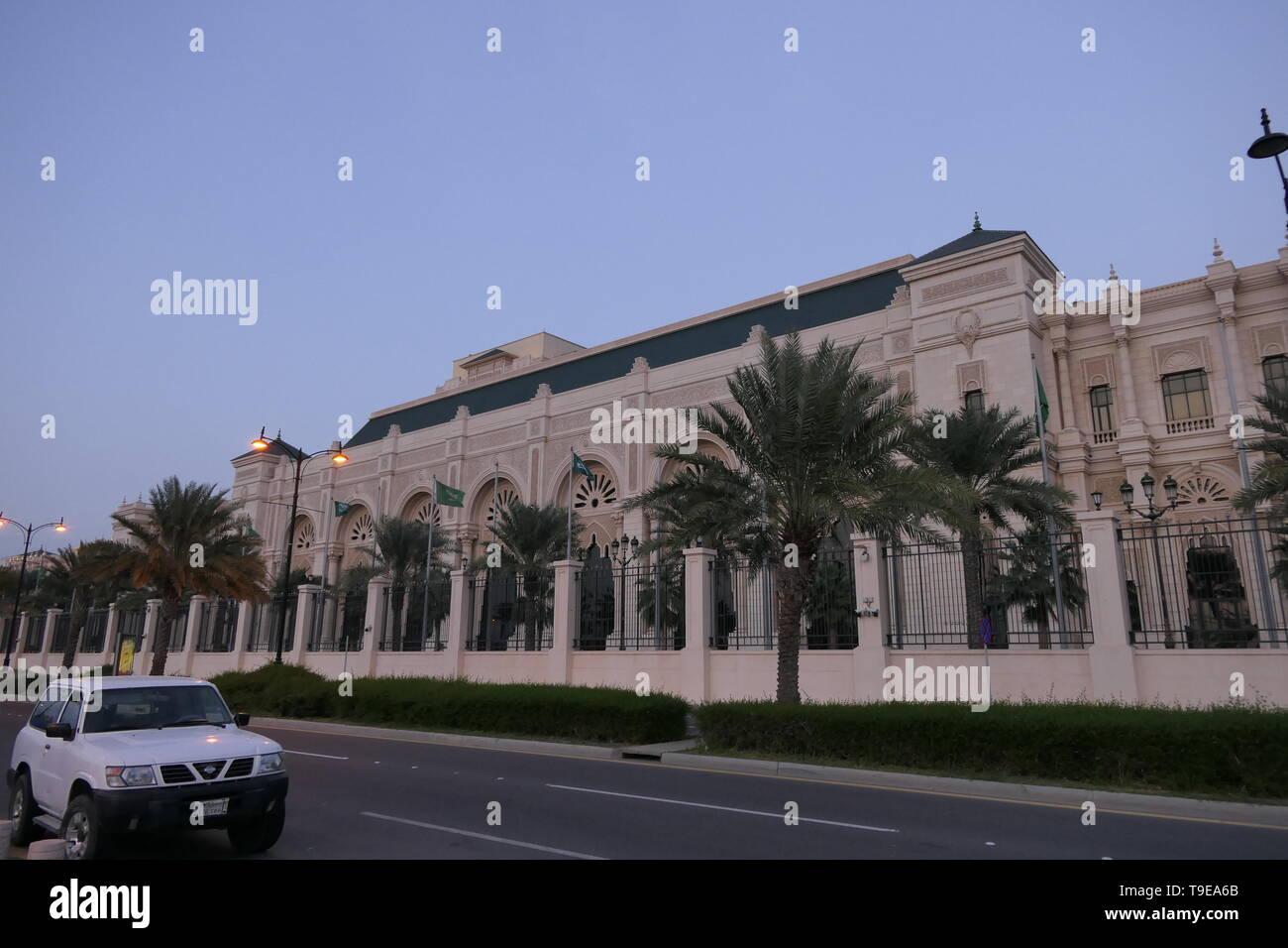 JEDDAH, SAUDI ARABIA - DECEMBER 20, 2018: Side view of the The Ritz-Carlton Hotel Jeddah - Stock Image