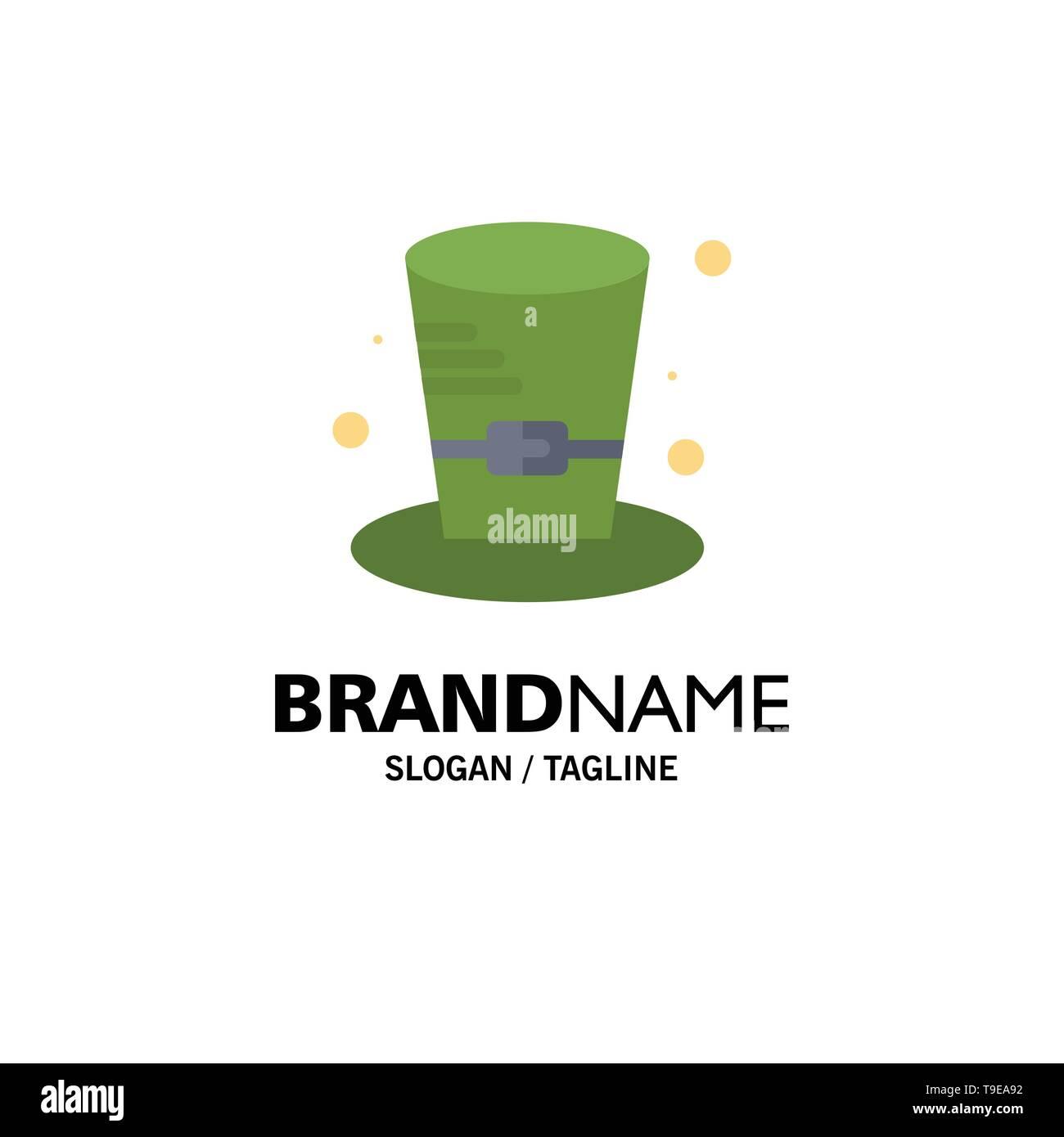 Cap, Detective, Hat, Canada Business Logo Template. Flat Color - Stock Image