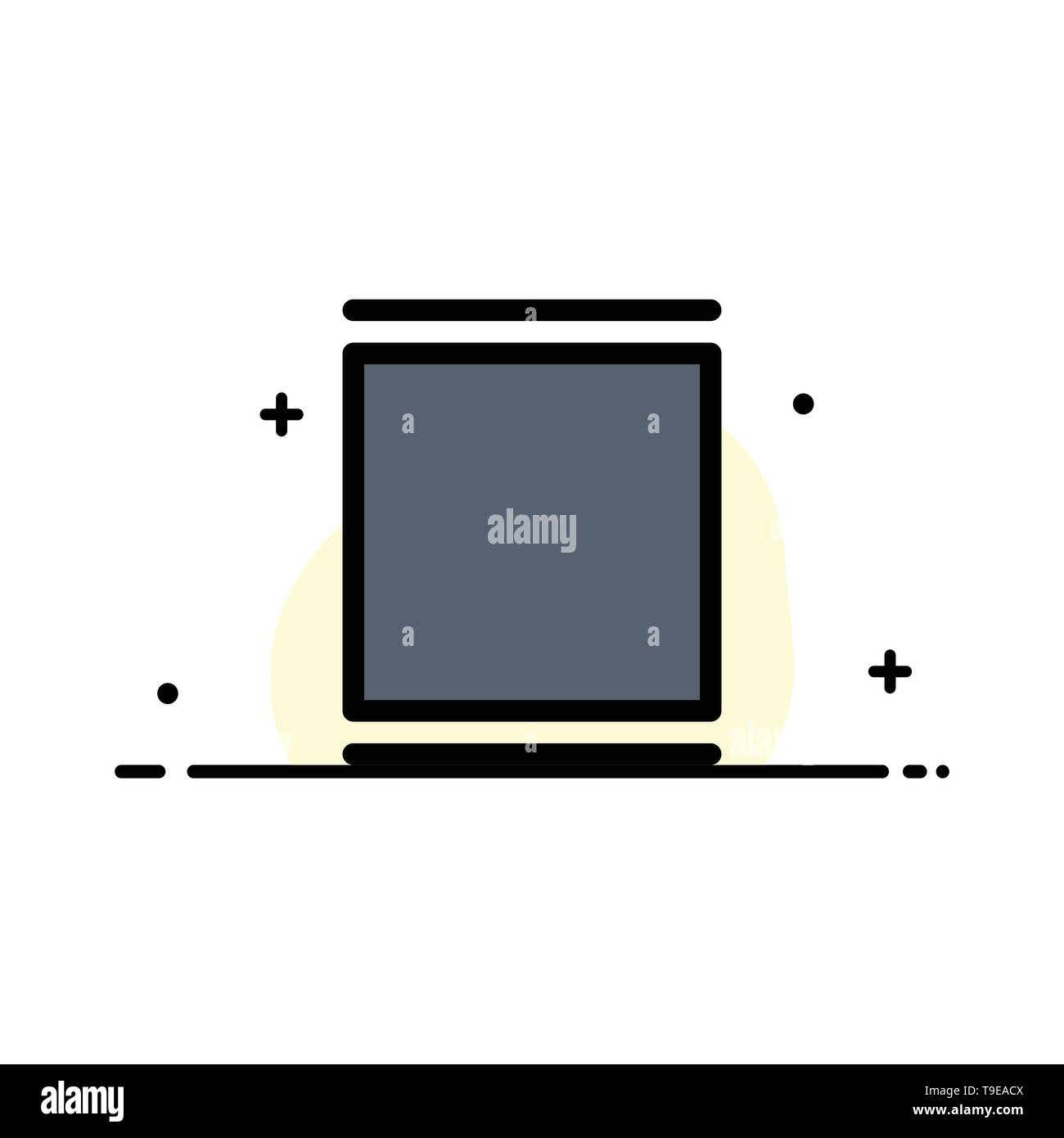 Gallery, Instagram, Sets, Timeline  Business Flat Line Filled Icon Vector Banner Template - Stock Image