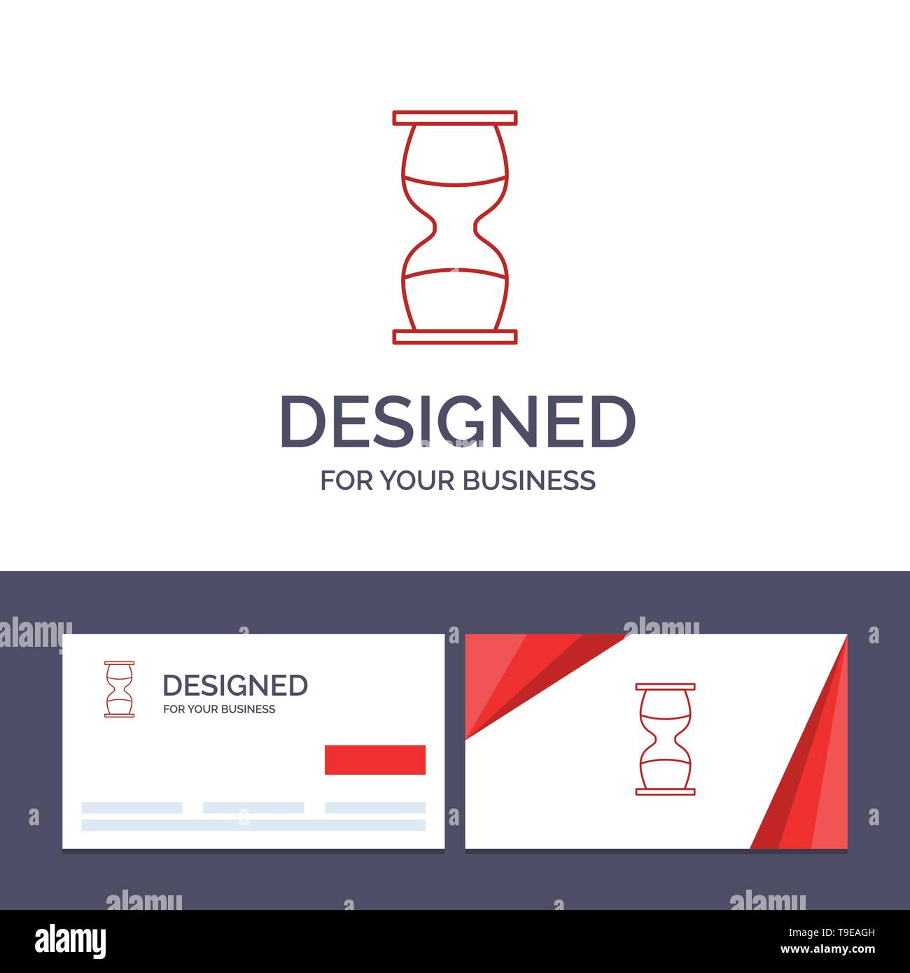 Creative Business Card and Logo template Hourglass, Business