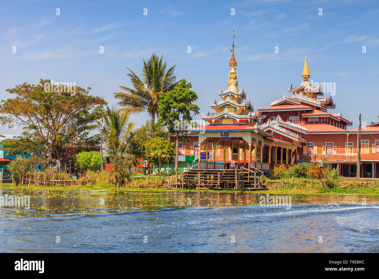 Pagoda on Inle Lake - Stock Image