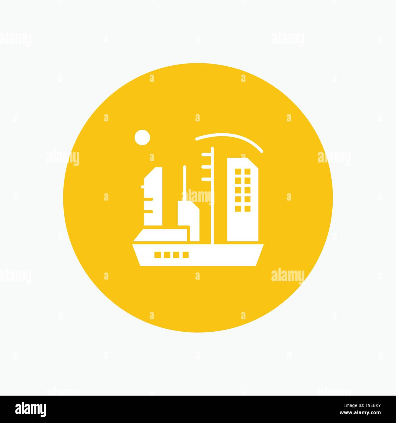 City, Colonization, Colony, Dome, Expansion - Stock Vector