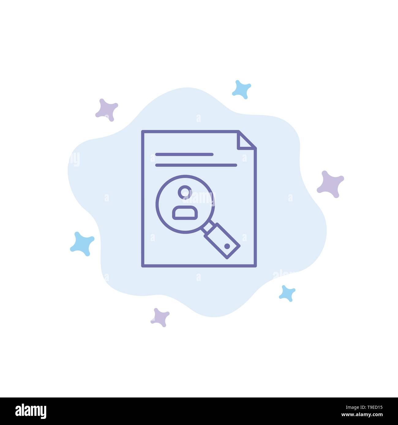 Application Clipboard Curriculum Cv Resume Staff Blue Icon On