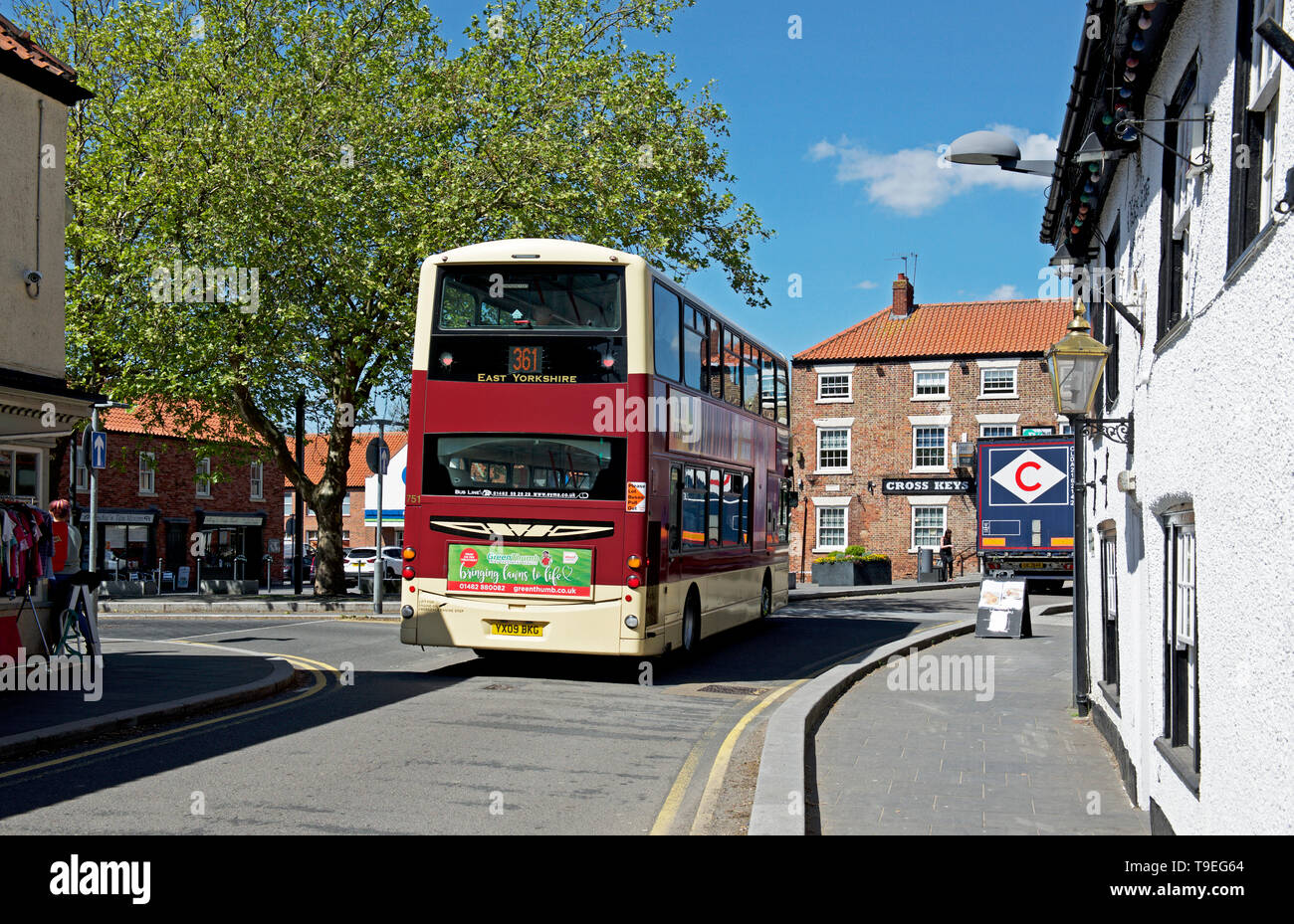 Bus in Crowle, North Lincolnshire, England UK - Stock Image