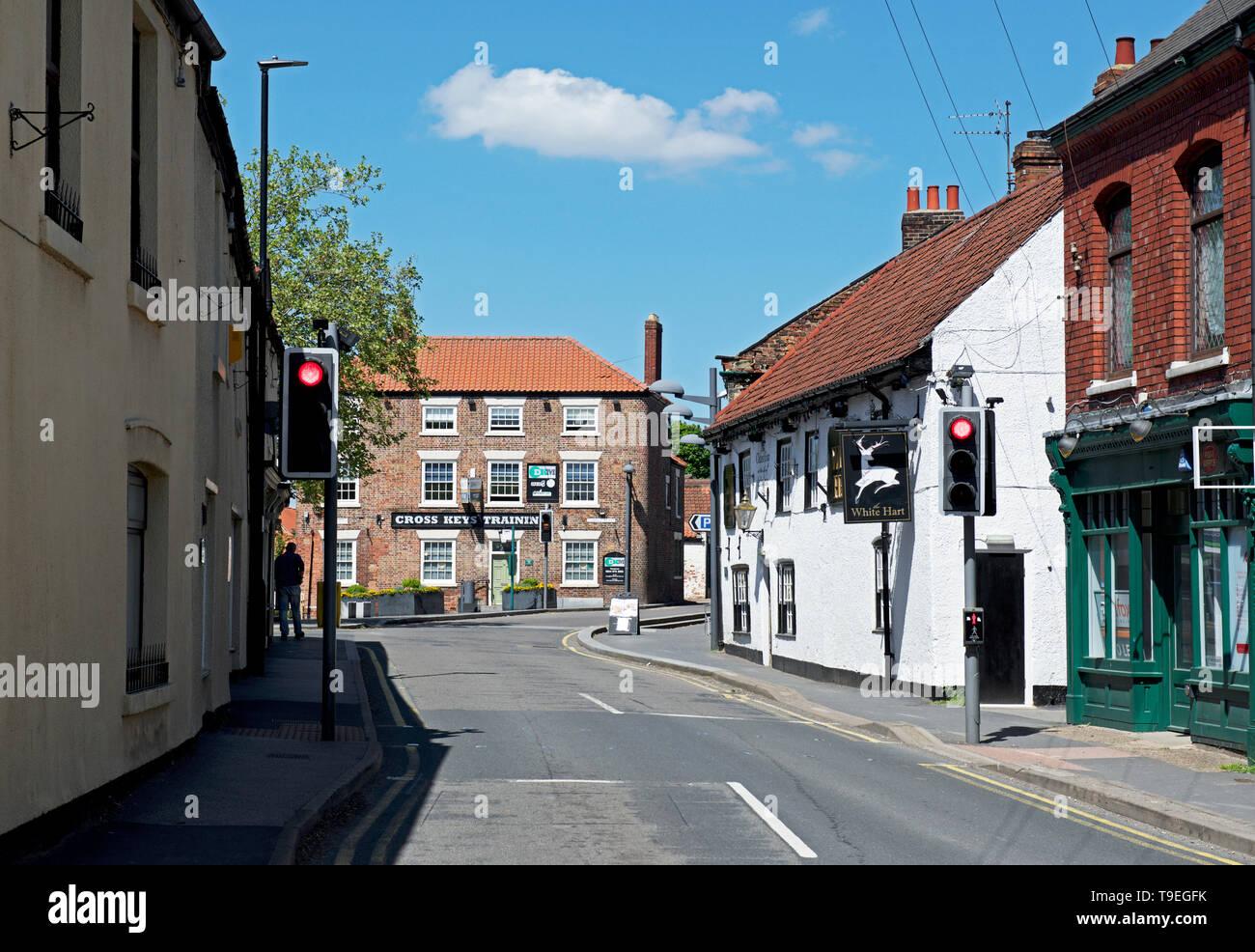 Main Street, Crowle, North Lincolnshire, England UK - Stock Image