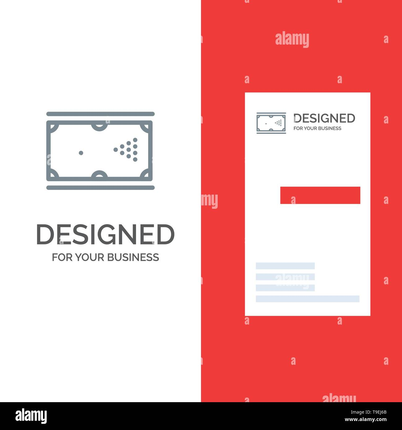 Billiards, Cue, Game, Pocket, Pool Grey Logo Design and Business Card Template - Stock Image