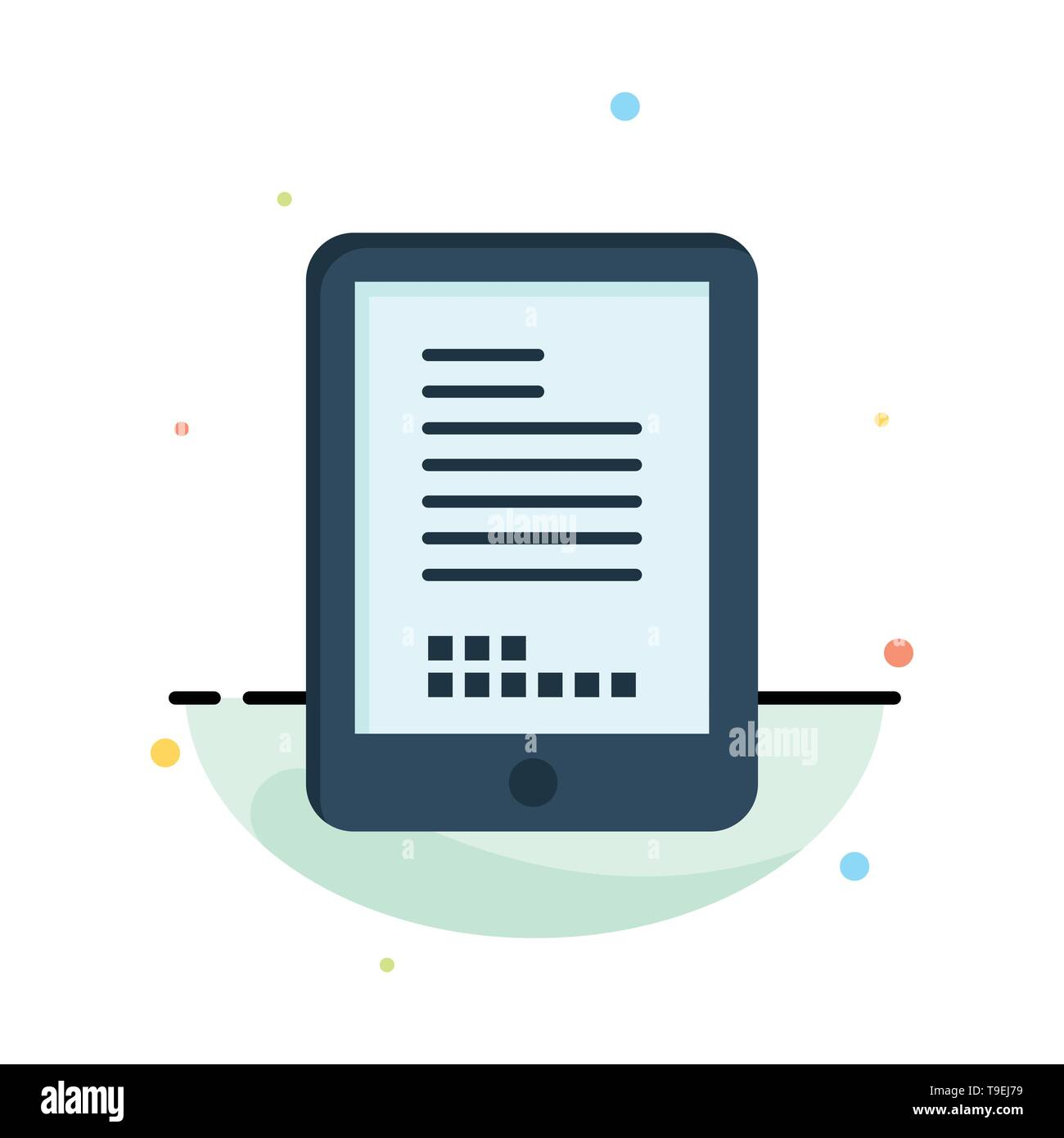 Mobile, Coding, Hardware, Cell Abstract Flat Color Icon Template - Stock Image