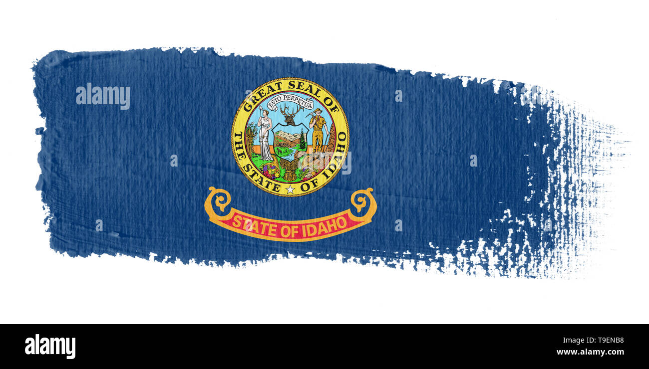 Brushstroke Flag Idaho - Stock Image