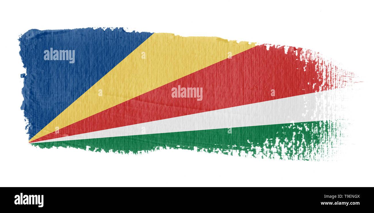 Brushstroke Flag Seychelles - Stock Image