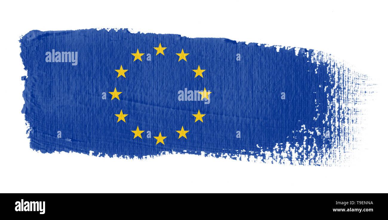 Brushstroke Flag Europe - Stock Image