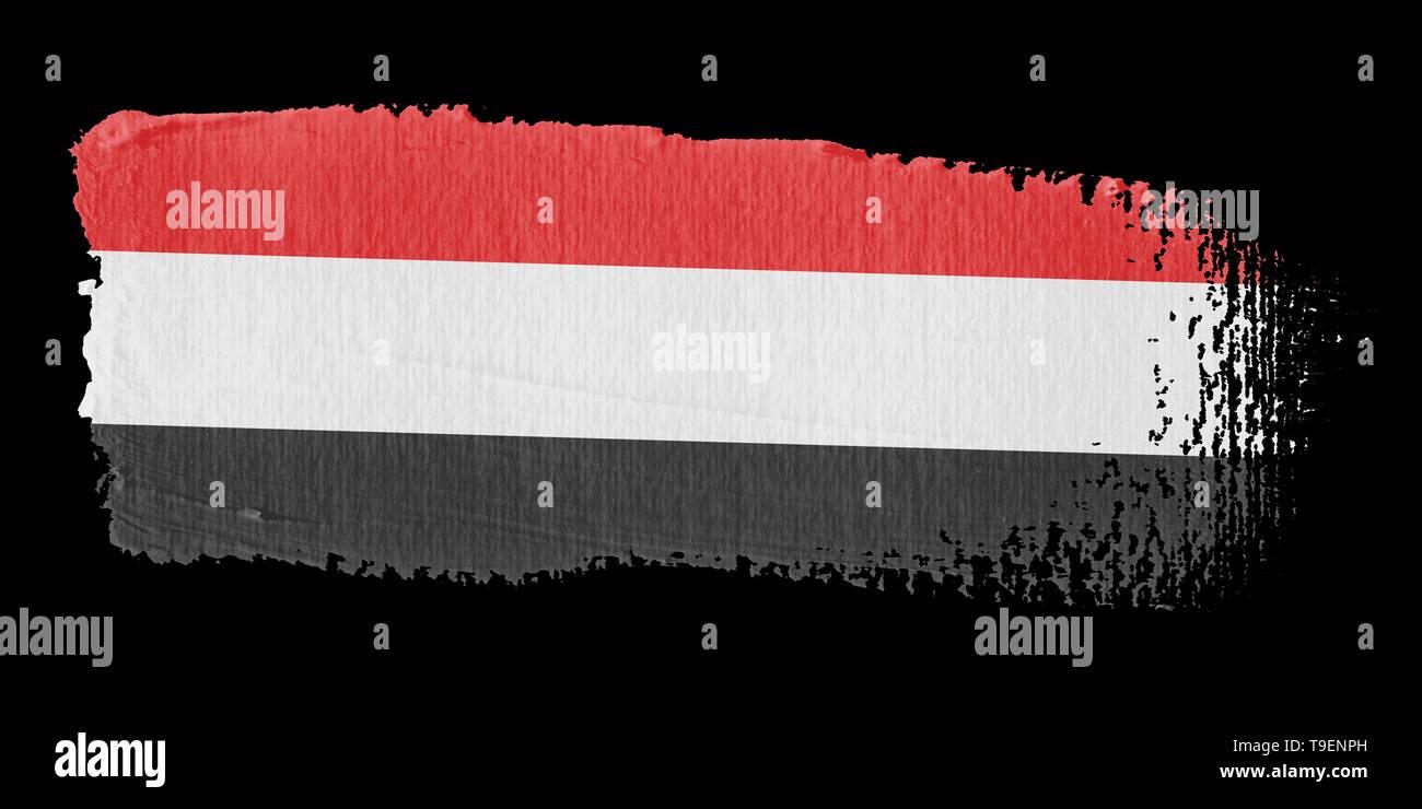 Brushstroke Flag Yemen - Stock Image